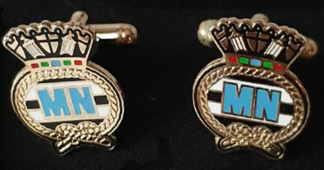 501a MN enamel cuff links
