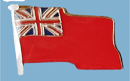 609a Red Ensign lapel badge